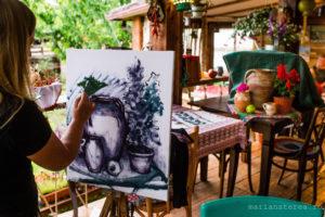 pictori la lucru